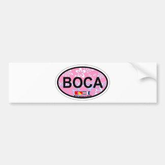 Boca Raton - diseño oval Pegatina Para Auto