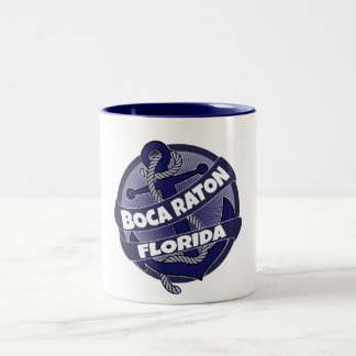 Boca Raton Florida anchor swirl coffee mug