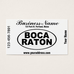 Boca raton office products supplies zazzle boca raton florida business card reheart Choice Image