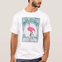 Boca Raton Florida Pink Flamingo Retro