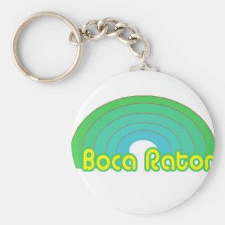 Boca Raton, la Florida Llavero Redondo Tipo Pin