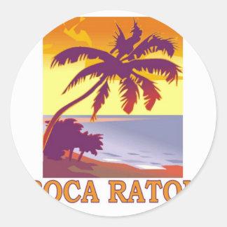 Boca Raton la Florida Pegatinas Redondas