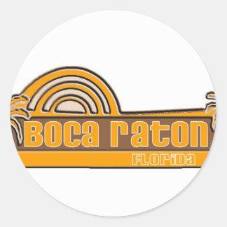 Boca Raton la Florida Etiquetas Redondas