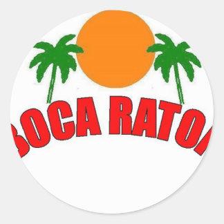 Boca Raton la Florida Etiqueta