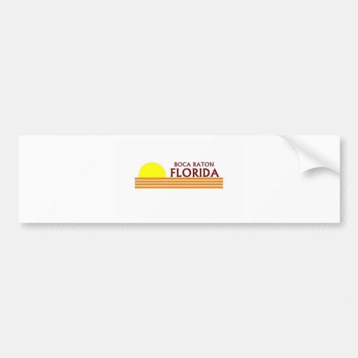 Boca Raton, la Florida Pegatina De Parachoque