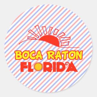 Boca Raton, la Florida Pegatina Redonda
