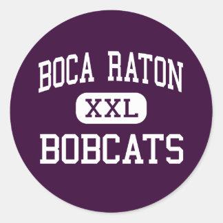 Boca Raton - linces - alto - Boca Raton la Florida Etiquetas Redondas