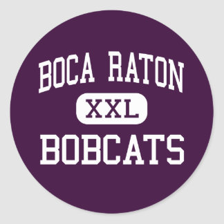 Boca Raton - linces - comunidad - Boca Raton Pegatinas Redondas