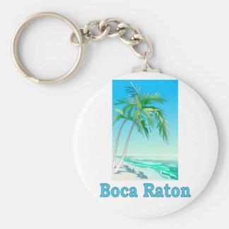 Boca Raton Llavero Redondo Tipo Pin