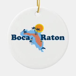 Boca Raton - Map Design. Ceramic Ornament