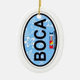 Boca Raton - Oval Design. Ceramic Ornament