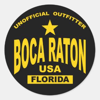 Boca Raton Etiquetas Redondas
