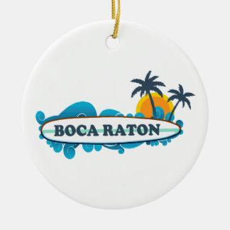 Boca Raton - Surf Design. Ceramic Ornament