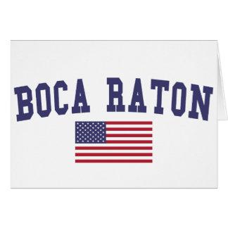 Boca Raton US Flag Card