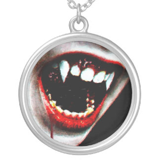 Boca sangrienta del vampiro del goteo colgante redondo