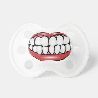 Boca y dientes divertidos chupetes para bebés