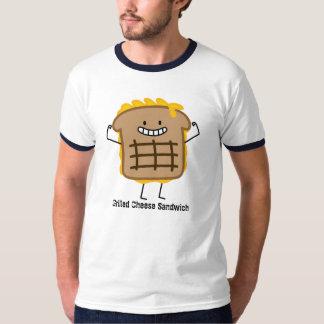 Bocadillo asado a la parrilla feliz del queso playera