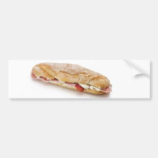 bocadillo con el jamón y el queso pegatina de parachoque