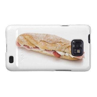 bocadillo con el jamón y el queso galaxy s2 carcasa