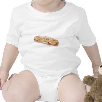 bocadillo con el jamón y el queso traje de bebé