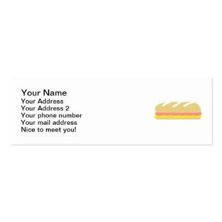 Bocadillo del baguette del queso del jamón plantillas de tarjeta de negocio