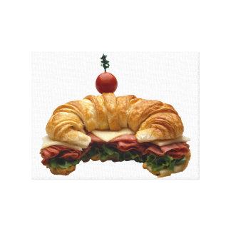 Bocadillo del Croissant Impresión En Tela