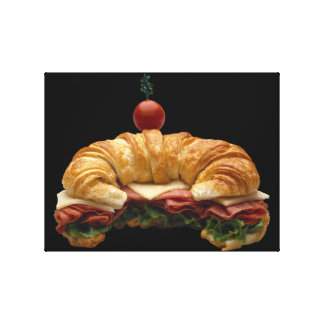 Bocadillo del Croissant Impresiones En Lona Estiradas