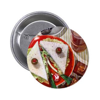 bocadillo del globo del ojo de los años 50 pin redondo de 2 pulgadas