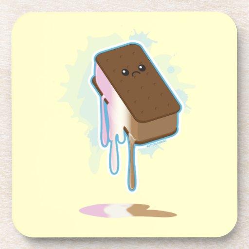 Bocadillo del helado posavasos de bebidas