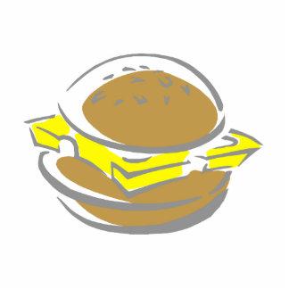 Bocadillo del queso adorno fotoescultura