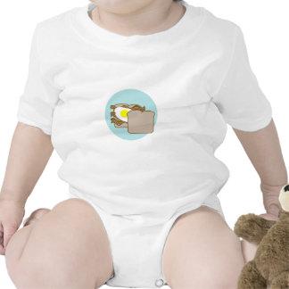 Bocadillo del tocino y del huevo traje de bebé