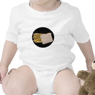 Bocadillo del tocino y del queso camisetas