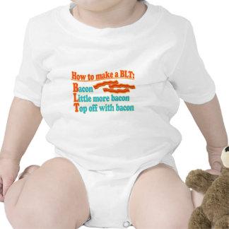 Bocadillo divertido del humor BLT del tocino Traje De Bebé