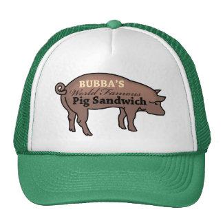 Bocadillo famoso del cerdo de Bubba Gorros Bordados