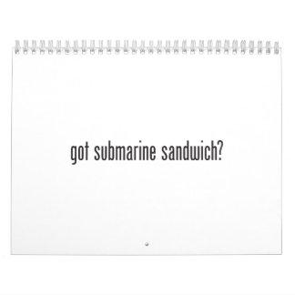 bocadillo submarino conseguido calendarios de pared