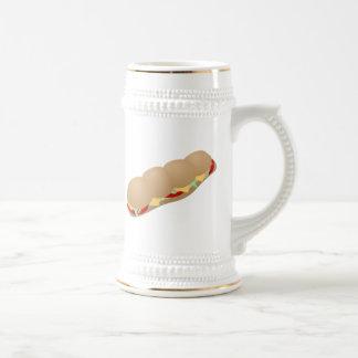 Bocadillo submarino jarra de cerveza