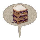 Bocadillos de la mantequilla y de la jalea de caca figura de tarta