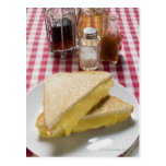 Bocadillos tostados del queso en la placa, vinagre tarjetas postales