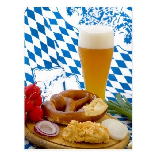 Bocado bávaro tradicional postal