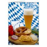 Bocado bávaro tradicional tarjeta de felicitación