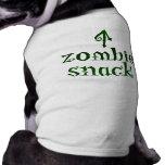 Bocado del zombi - camiseta del mascota camisetas de perro