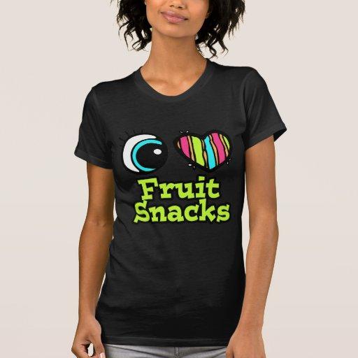Bocados brillantes de la fruta del amor del corazó camisetas