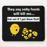 Bocados salados alfombrillas de ratón