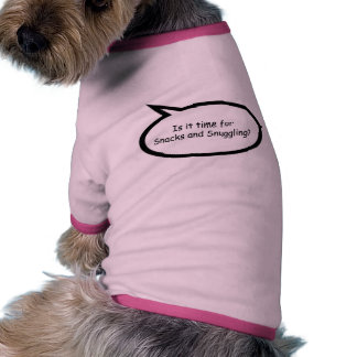 Bocados y el Snuggling Ropa De Perro