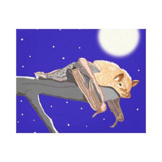 Bocage Banana Bat Canvas Print