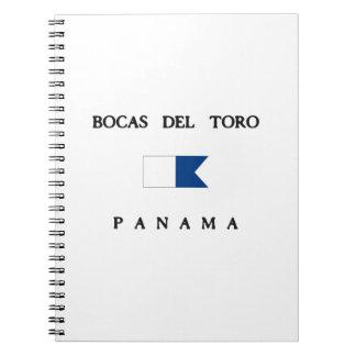 Bocas Del Toro Panama Alpha Dive Flag Spiral Note Books