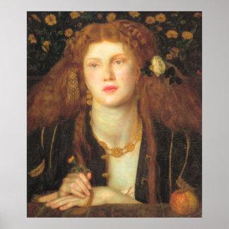 Bocca Baciata - Dante Gabriel Rossetti Poster