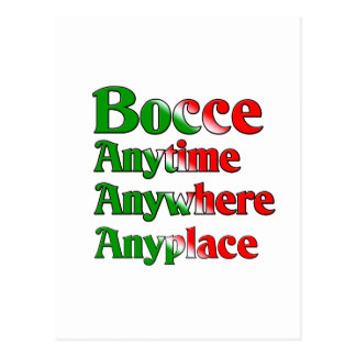 Bocce Anytime Anywhere Anyplace Postcard