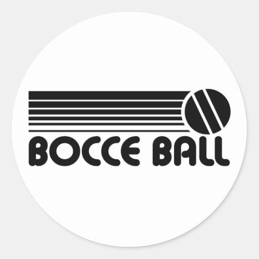 Bocce Ball Classic Round Sticker