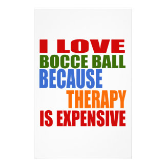 Bocce Ball Designs Stationery